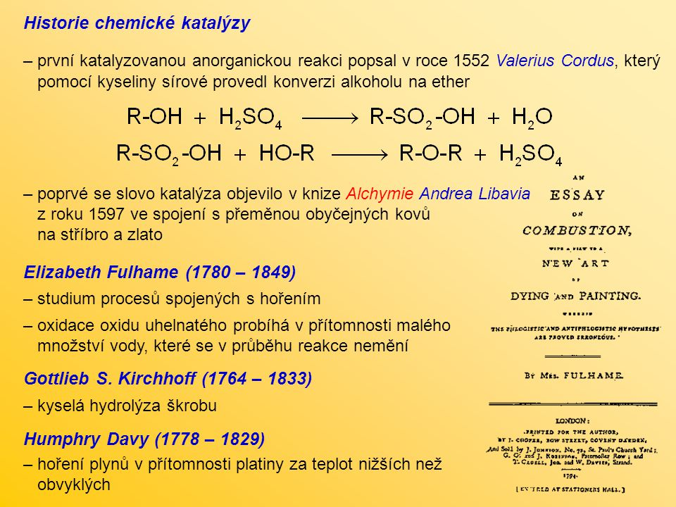 Historie chemické katalýzy