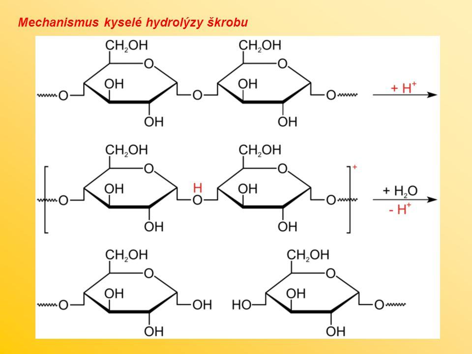 Mechanismus kyselé hydrolýzy škrobu
