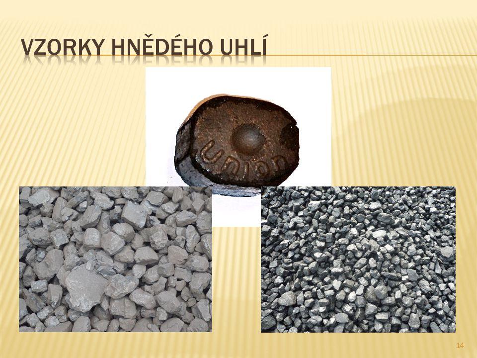 Vzorky hnědého uhlí