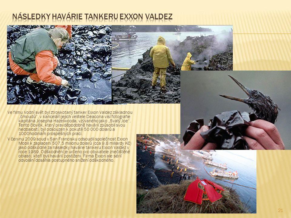Následky havárie tankeru exxon valdez