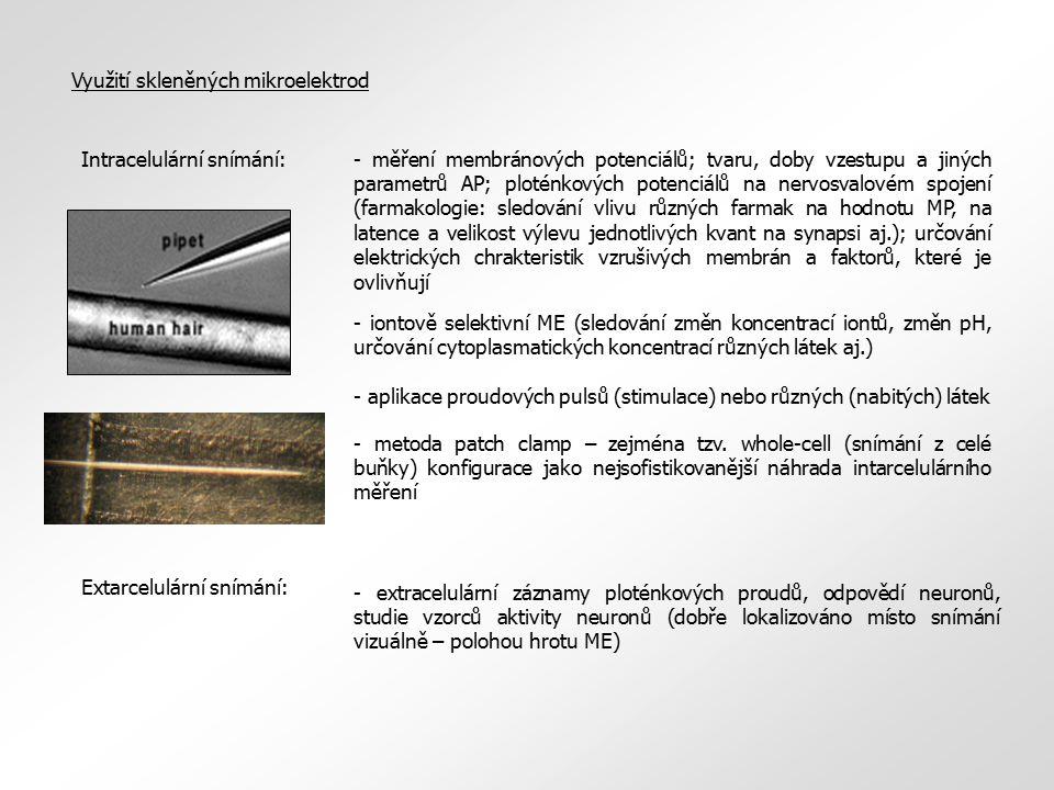 Využití skleněných mikroelektrod
