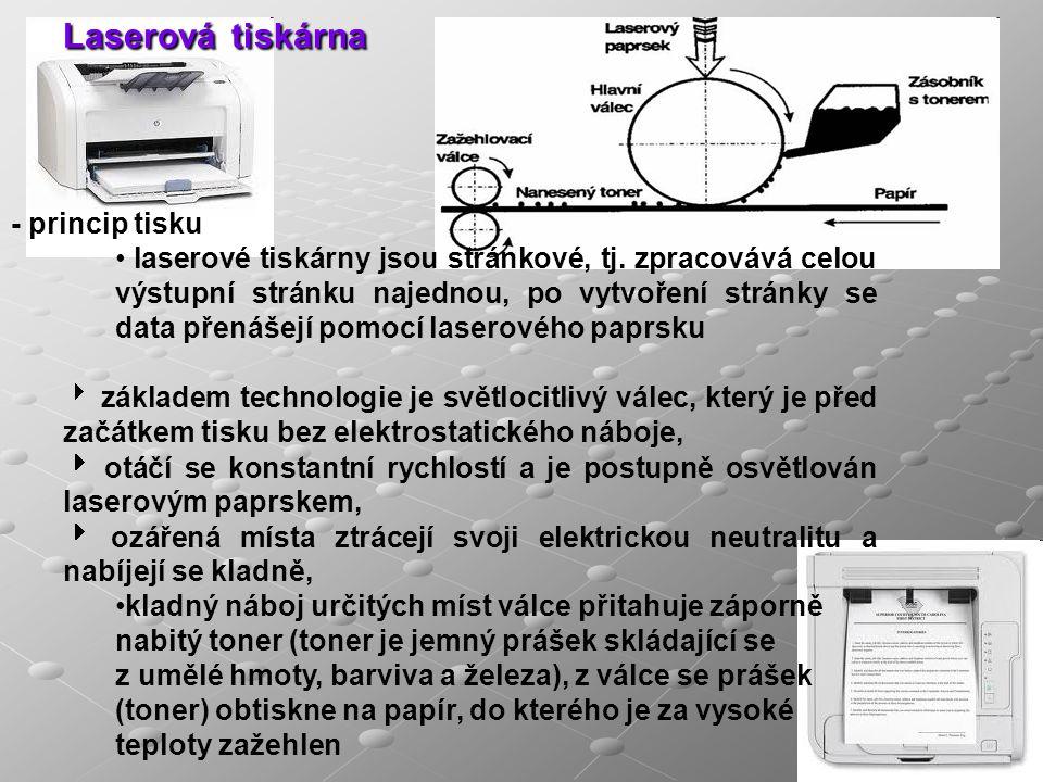 Laserová tiskárna - princip tisku