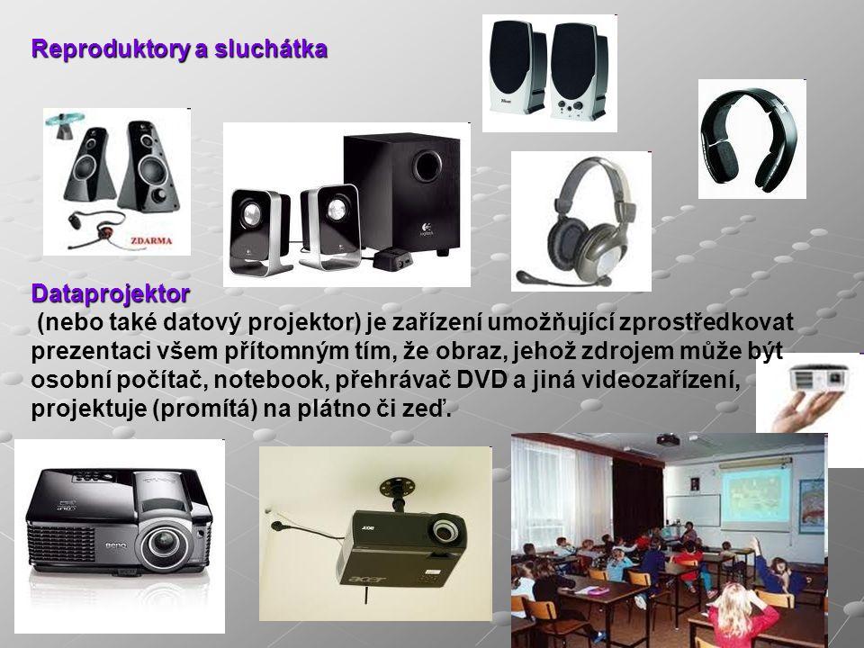 Reproduktory a sluchátka