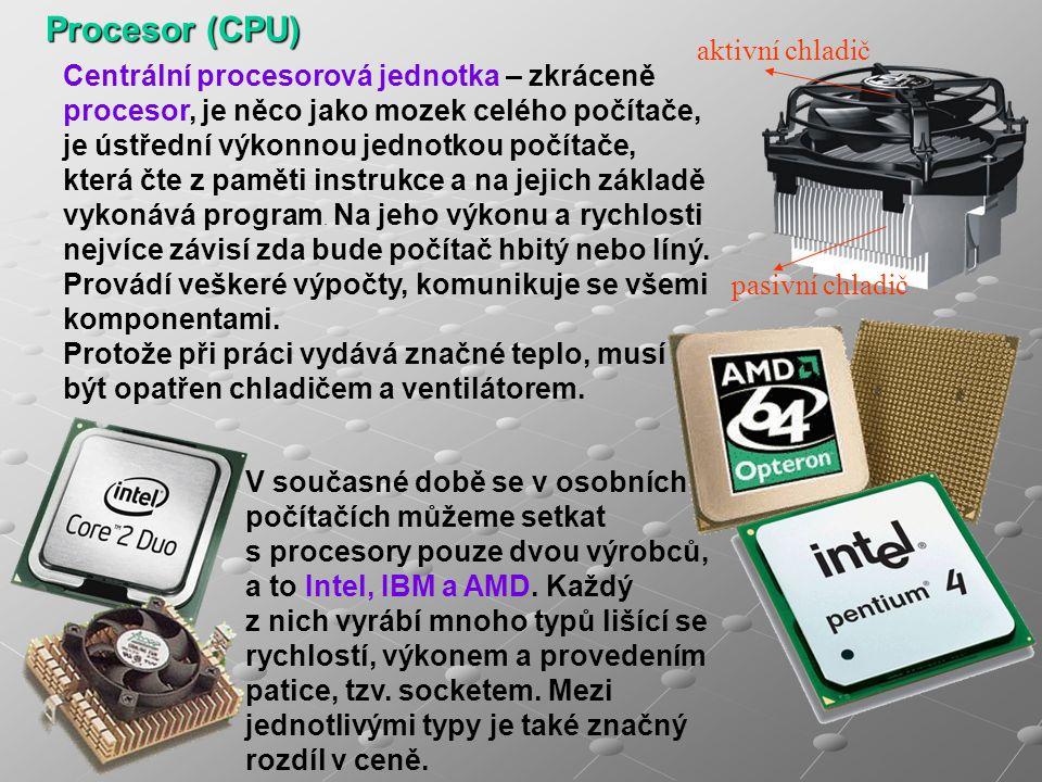 Procesor (CPU) aktivní chladič