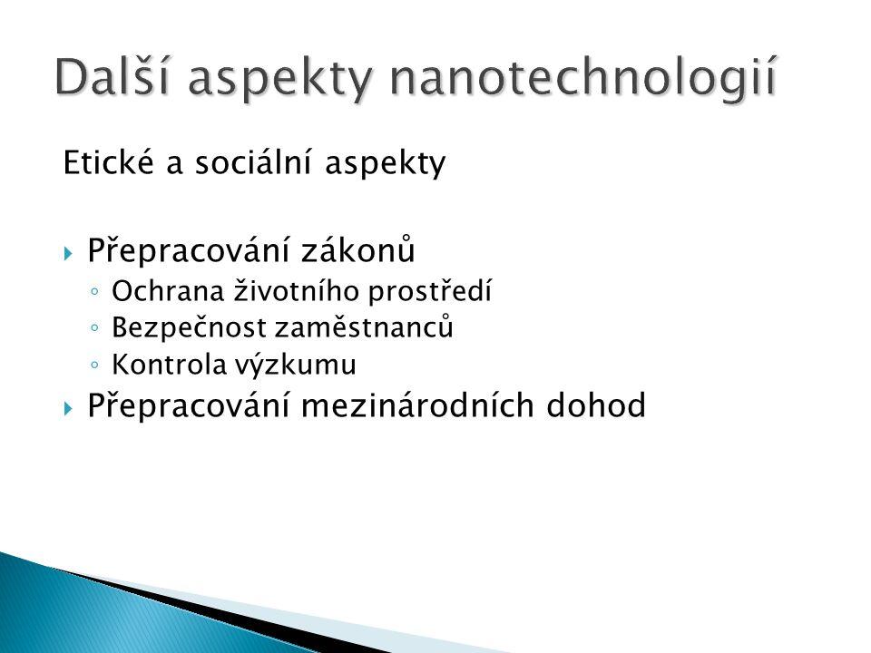 Další aspekty nanotechnologií