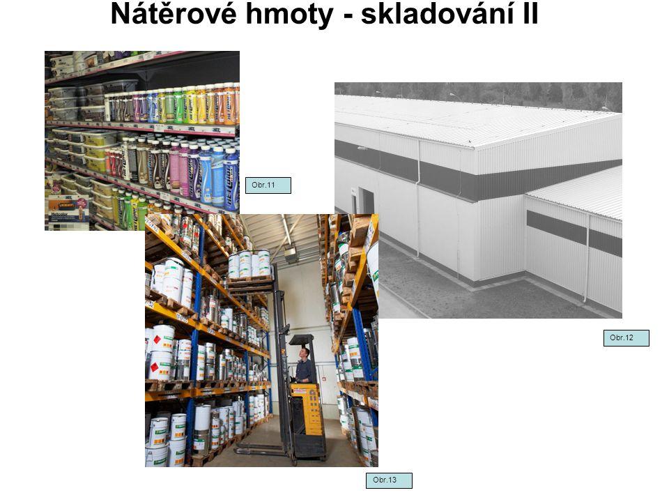 Nátěrové hmoty - skladování II