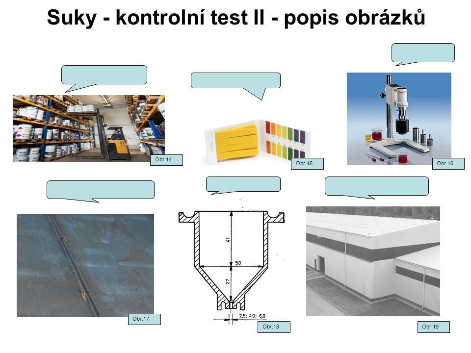 Suky - kontrolní test II - popis obrázků