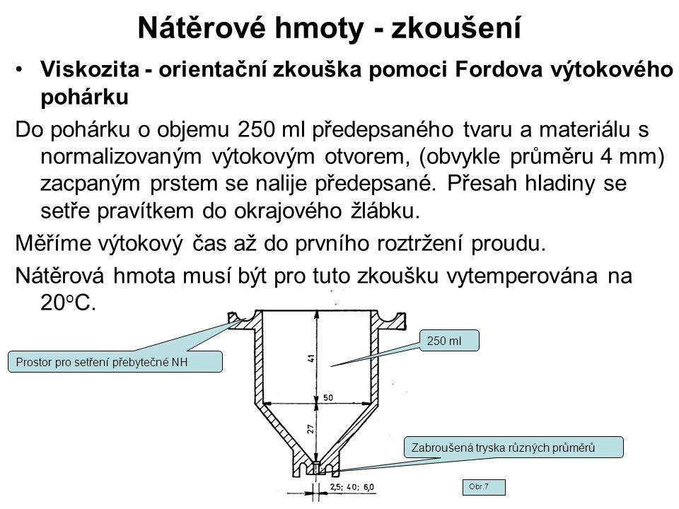 Nátěrové hmoty - zkoušení