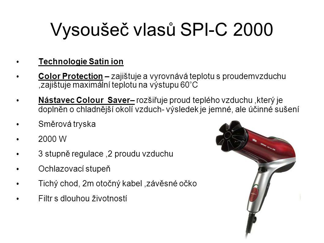 Vysoušeč vlasů SPI-C 2000 Technologie Satin ion