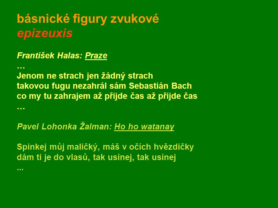 básnické figury zvukové epizeuxis