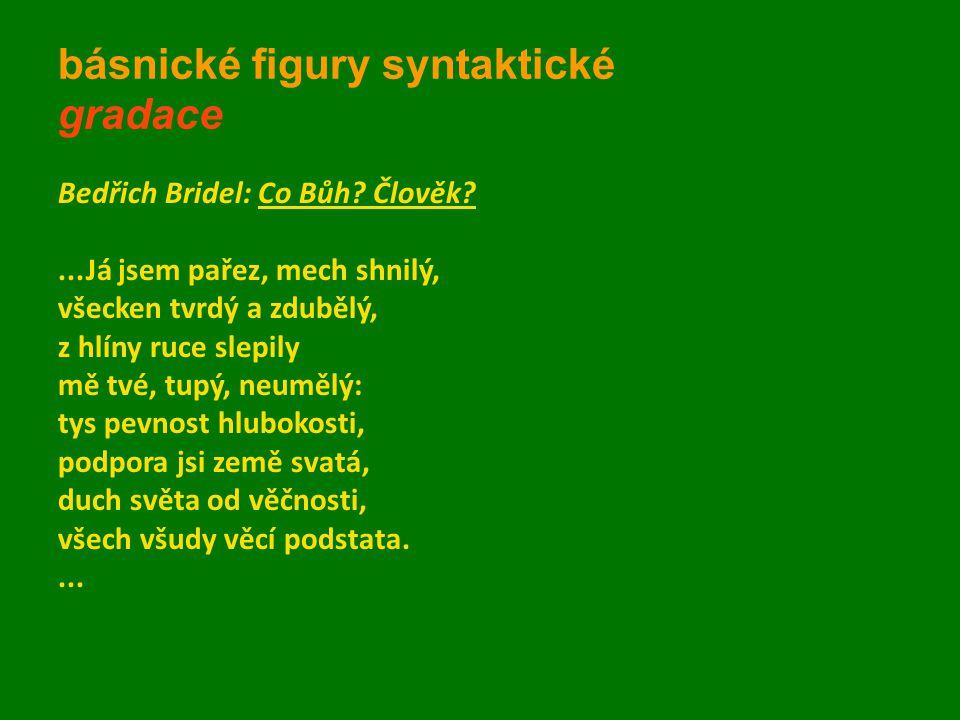 básnické figury syntaktické gradace