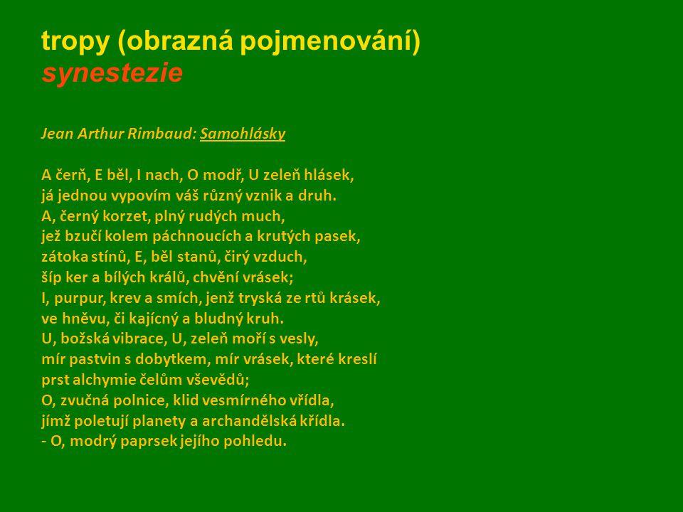 tropy (obrazná pojmenování) synestezie