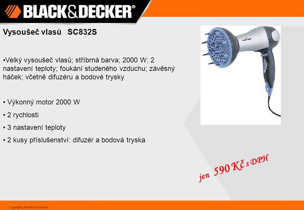 jen 590 Kč s DPH Vysoušeč vlasů SC832S