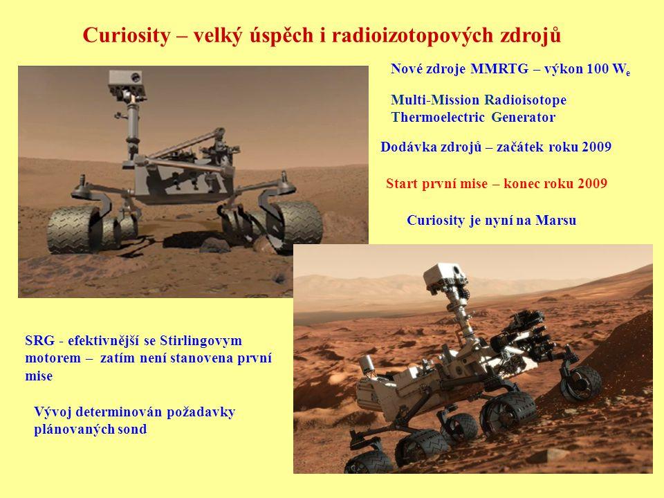 Curiosity – velký úspěch i radioizotopových zdrojů