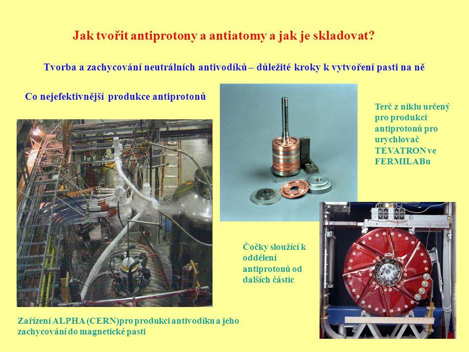 Jak tvořit antiprotony a antiatomy a jak je skladovat
