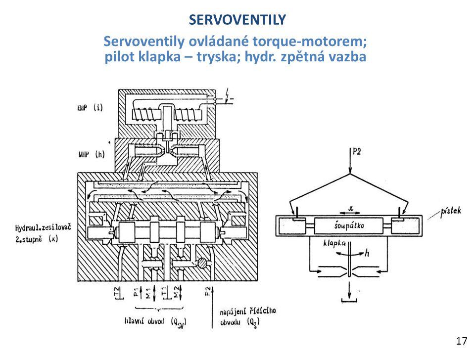 Servoventily ovládané torque-motorem;