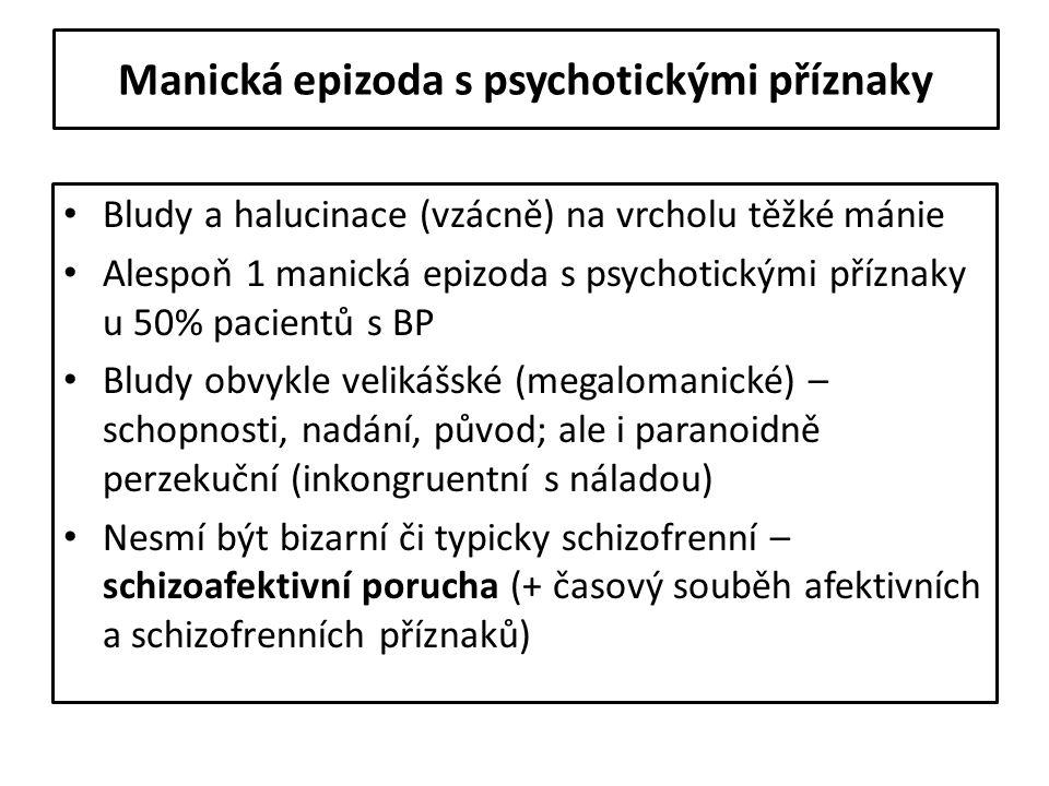Manická epizoda s psychotickými příznaky
