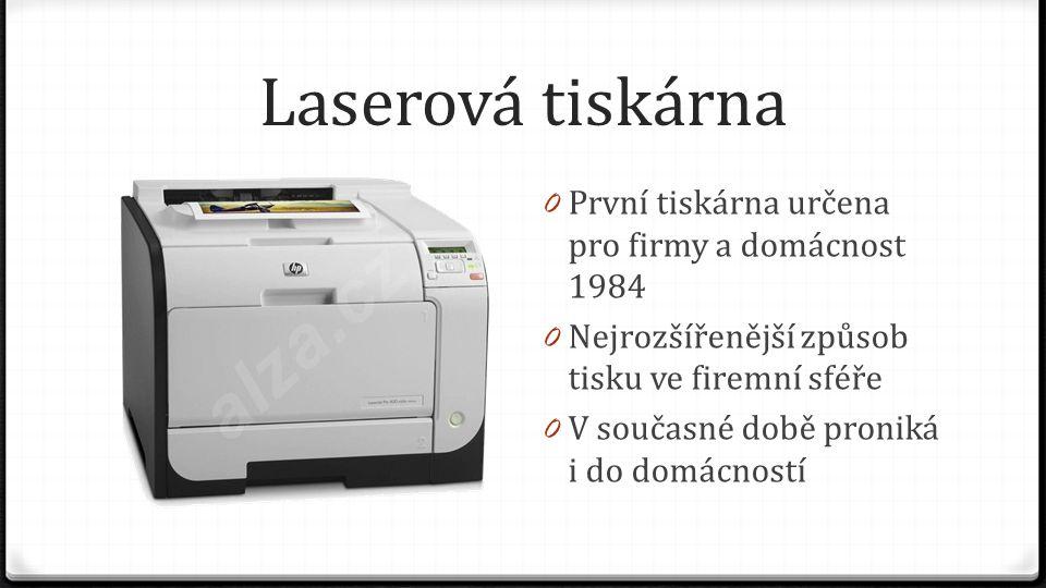 Laserová tiskárna První tiskárna určena pro firmy a domácnost 1984