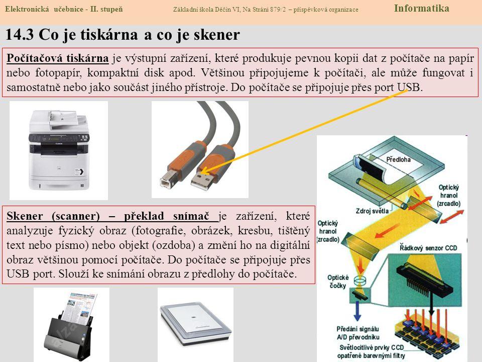 14.3 Co je tiskárna a co je skener