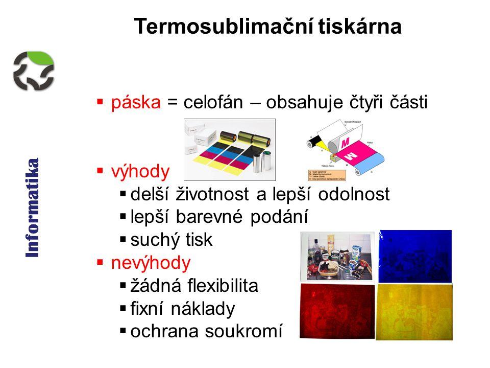 Informatika - Tiskárny