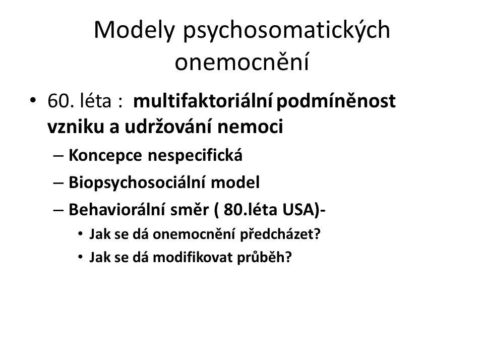 Modely psychosomatických onemocnění