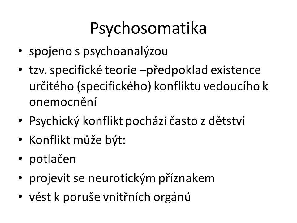 Psychosomatika spojeno s psychoanalýzou