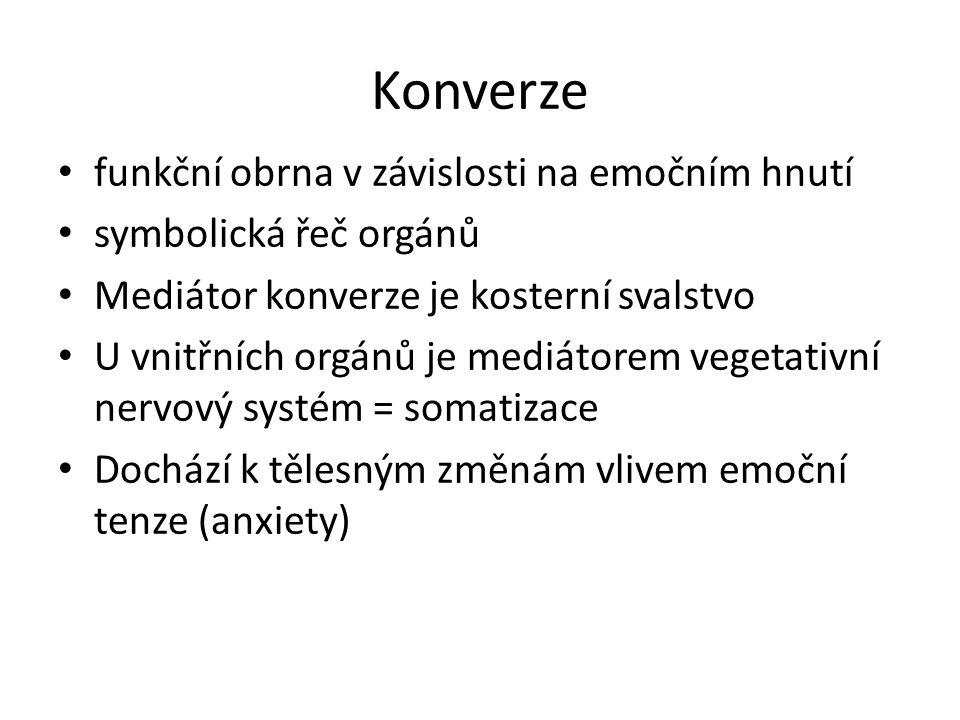 Konverze funkční obrna v závislosti na emočním hnutí