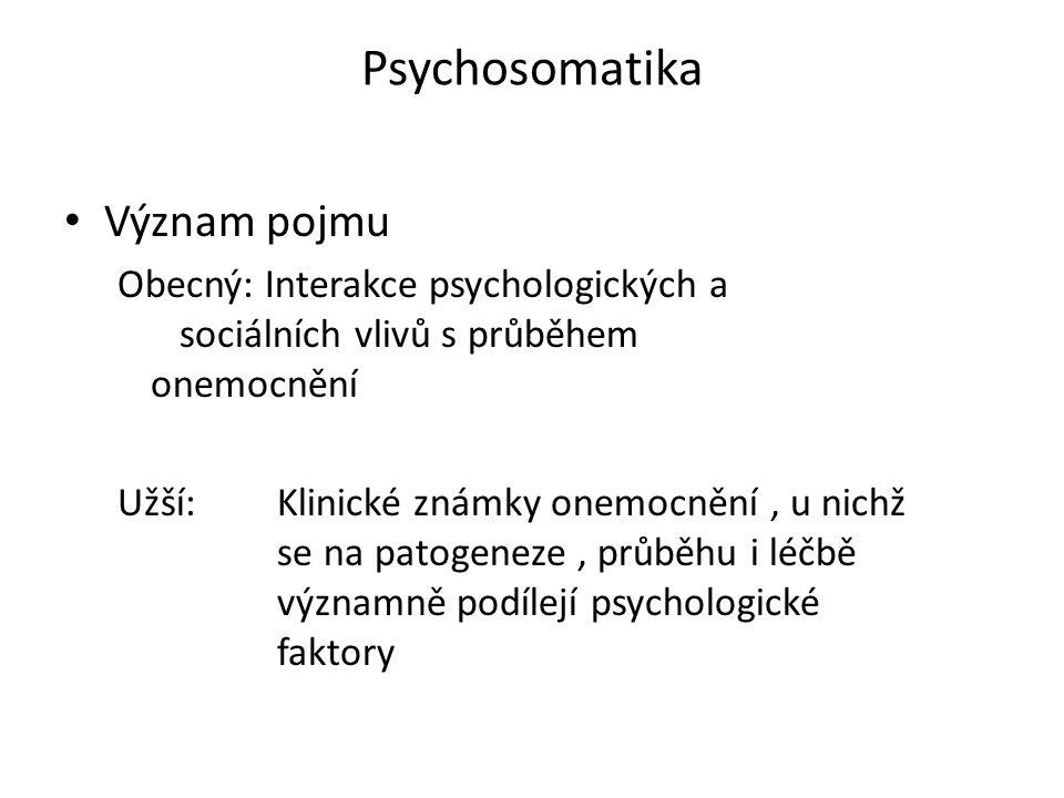 Psychosomatika Význam pojmu