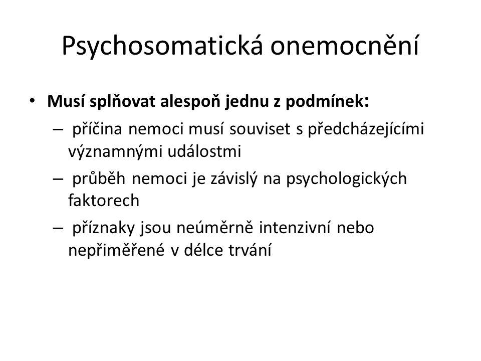 Psychosomatická onemocnění
