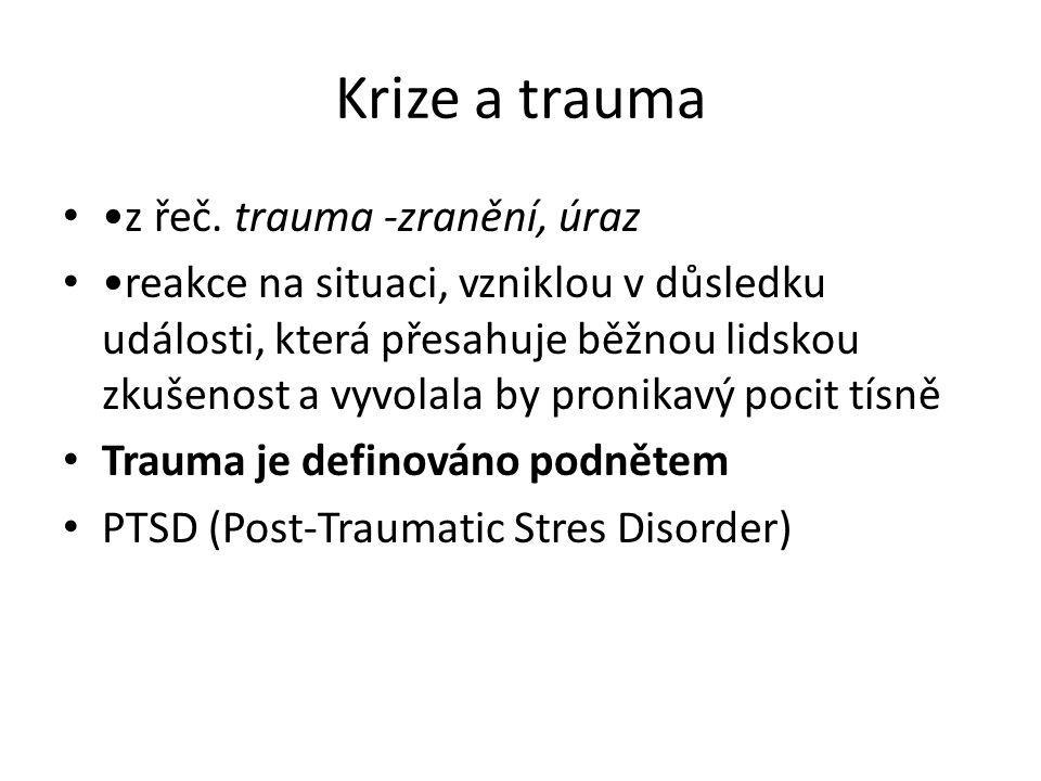 Krize a trauma •z řeč. trauma -zranění, úraz