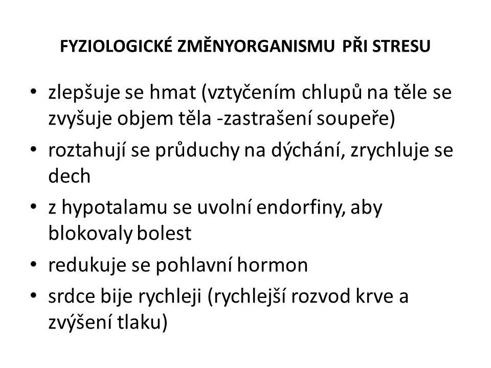 FYZIOLOGICKÉ ZMĚNYORGANISMU PŘI STRESU