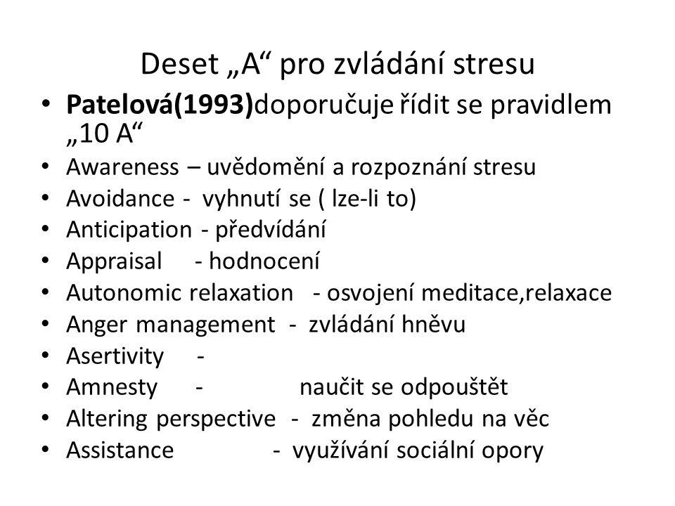 """Deset """"A pro zvládání stresu"""
