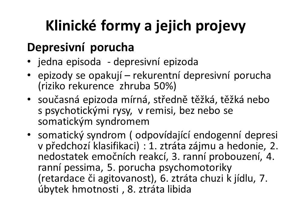 Klinické formy a jejich projevy
