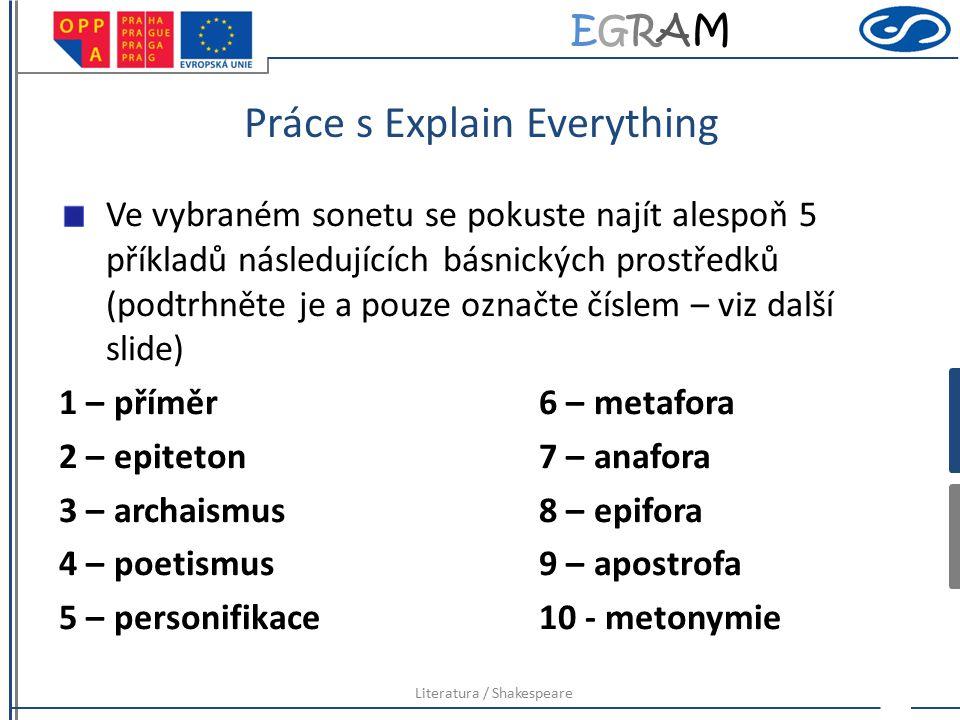 Práce s Explain Everything