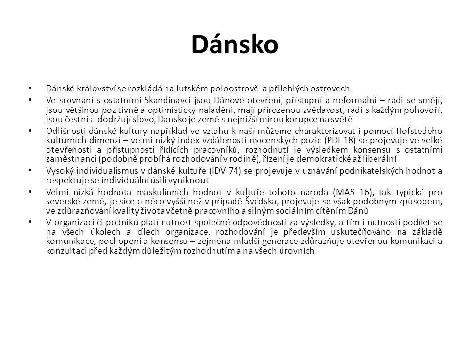 Dánsko Dánské království se rozkládá na Jutském poloostrově a přilehlých ostrovech.