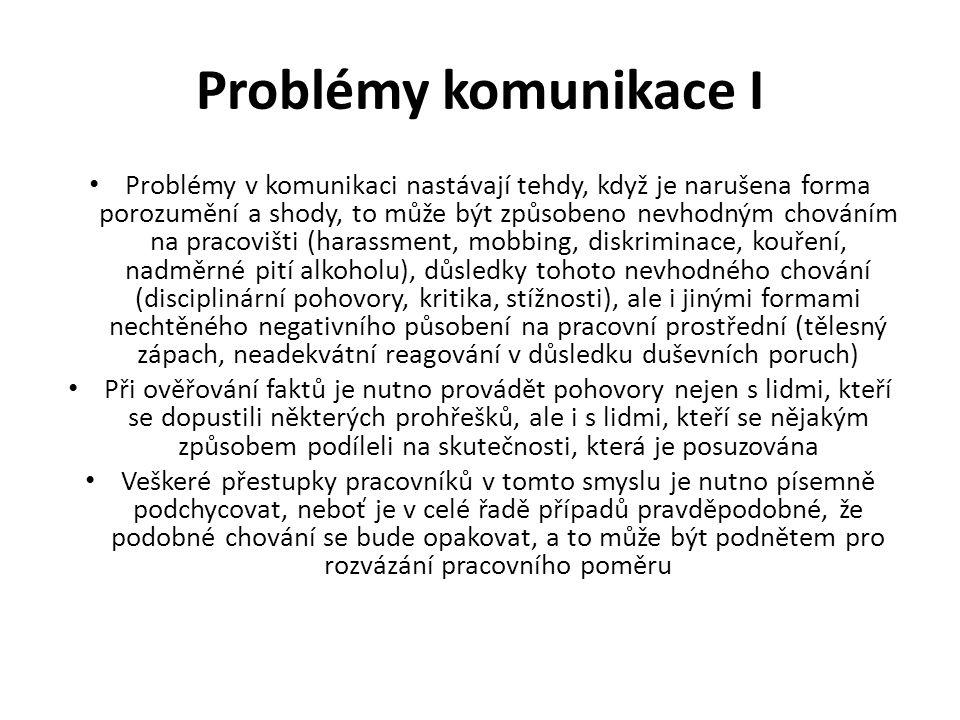 Problémy komunikace I