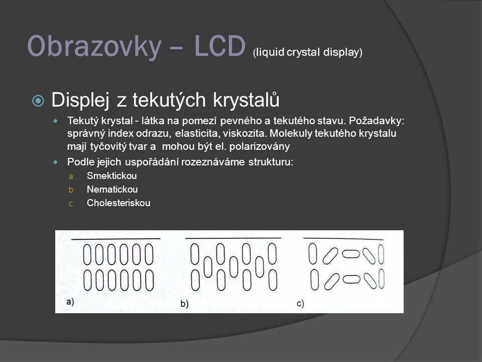 Obrazovky – LCD (liquid crystal display)