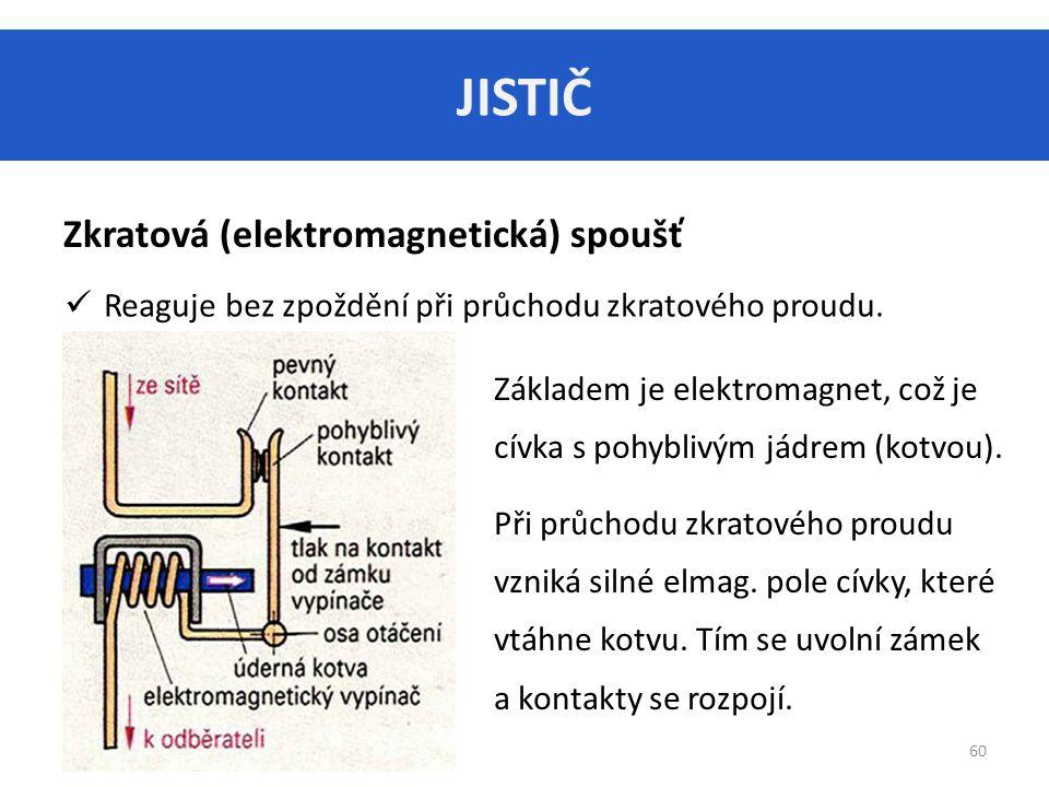 JISTIČ Zkratová (elektromagnetická) spoušť