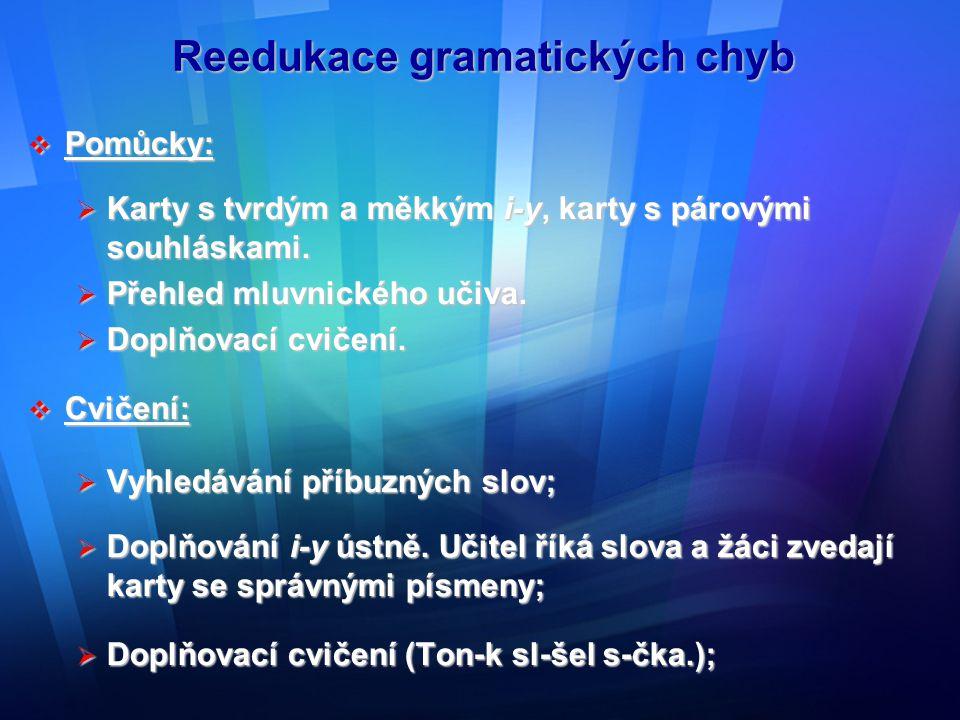 Reedukace gramatických chyb