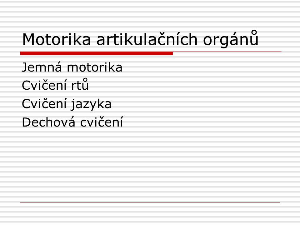 Motorika artikulačních orgánů