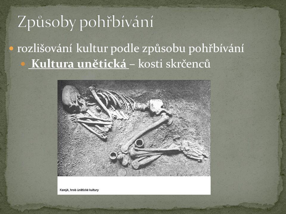 Způsoby pohřbívání rozlišování kultur podle způsobu pohřbívání
