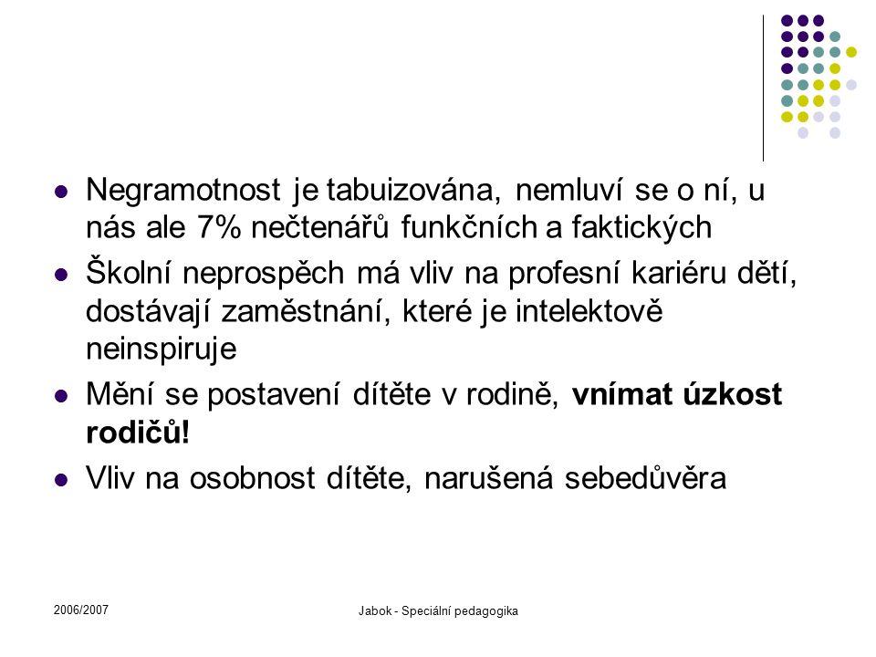 Jabok - Speciální pedagogika