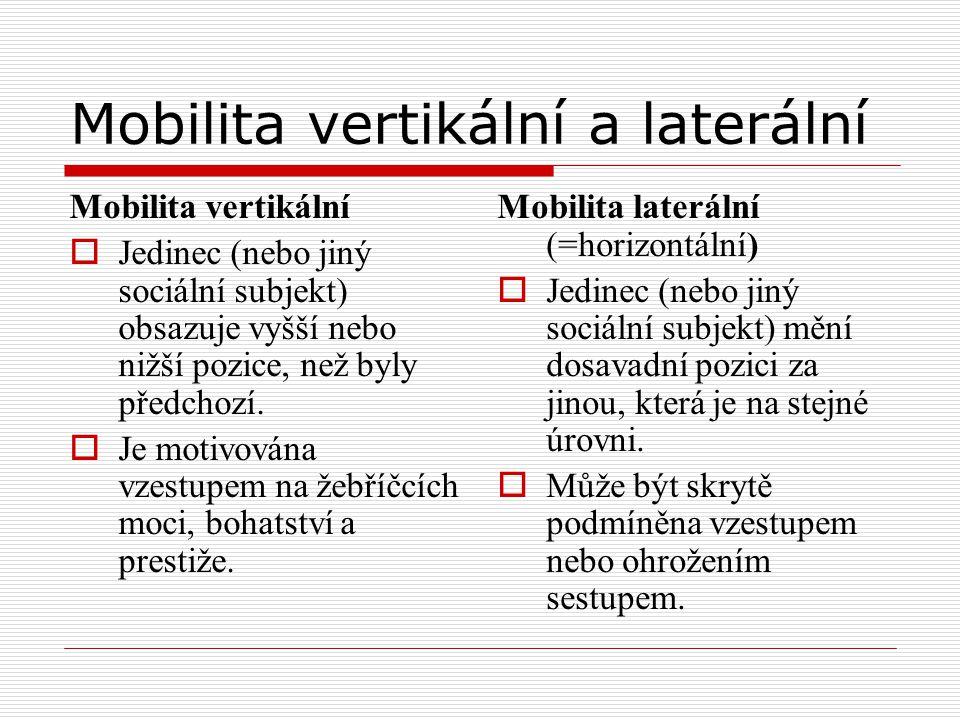 Mobilita vertikální a laterální