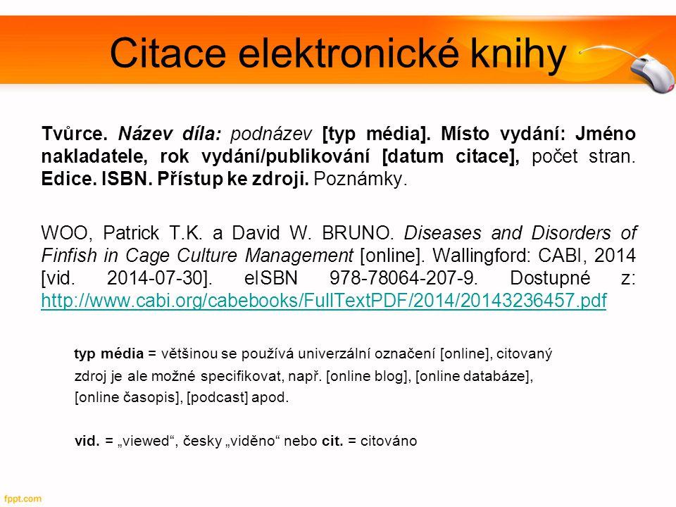 Citace elektronické knihy