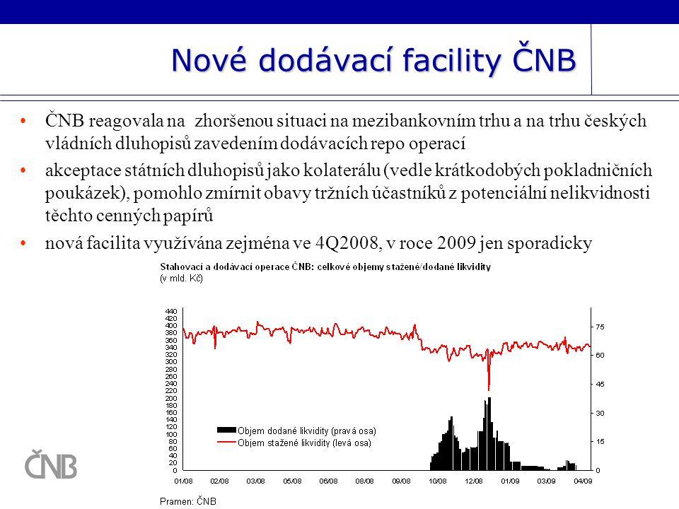 Nové dodávací facility ČNB