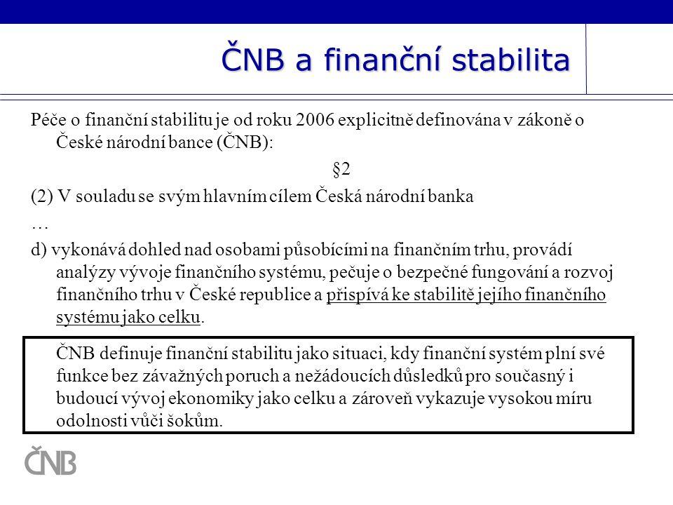 ČNB a finanční stabilita