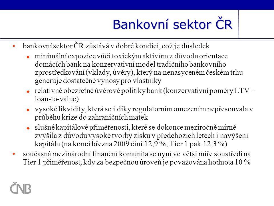 Bankovní sektor ČR bankovní sektor ČR zůstává v dobré kondici, což je důsledek.