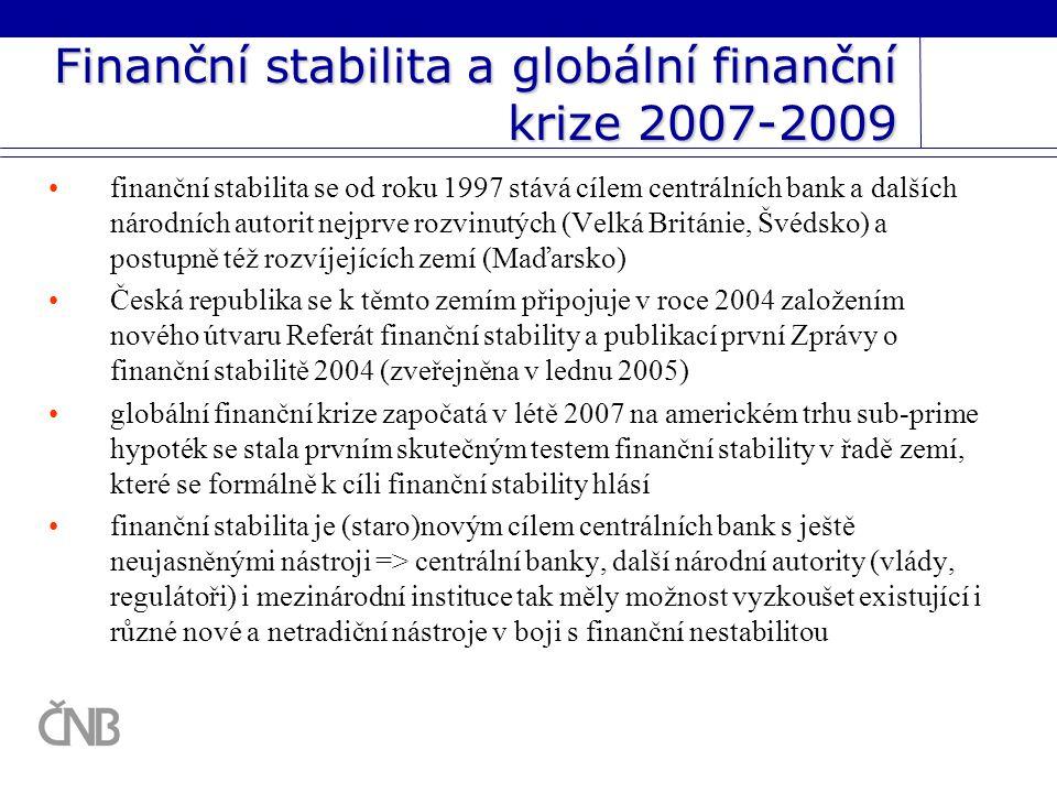 Finanční stabilita a globální finanční krize 2007-2009