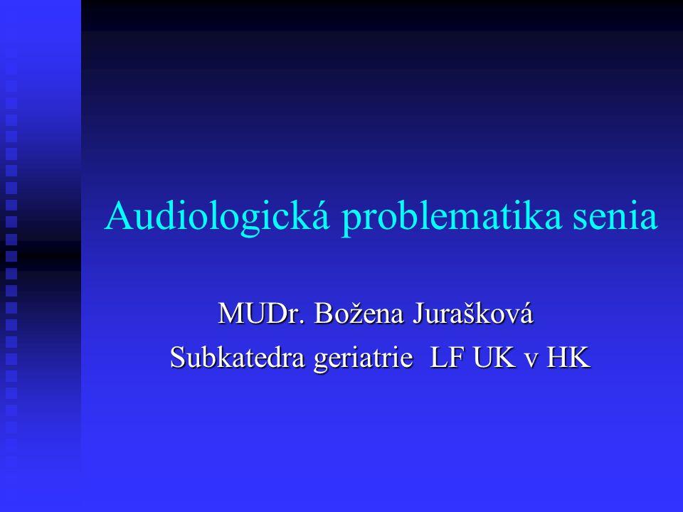 Audiologická problematika senia