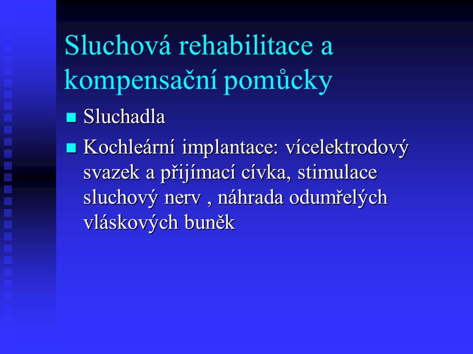 Sluchová rehabilitace a kompensační pomůcky
